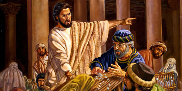 Isus u Hramu tjera trgovce