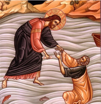 Isus spašava Petra iz vode